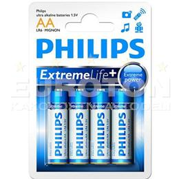 PHILIPS BATERIJA LR6 (AA) eXtreme Life ULTRA ALKALINE  4/1 - BLISTER